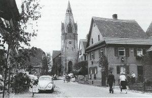 Wurmberger Kirche Mitte des letzten Jahrhunderts